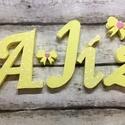 Név, felirat, betű- hungarocell, nikecell, polisztirol- 4 betű, Baba-mama-gyerek, Dekoráció, Otthon, lakberendezés, Gyerekszoba,  Az első betű kb 18- 20cm magas, a többi írott formának megfelelően kisebb! Anyaga: hungarocell,nike..., Meska