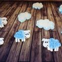 Bárány, bárányok dekoráció- hungarocell, nikecell, polisztirol-     , Baba-mama-gyerek, Dekoráció, Otthon, lakberendezés, Gyerekszoba, A feltüntetett ár 5db Bárányra, és a 4db felhőcskére vonatkozik, festve díszítve a Te elképzelésed s..., Meska