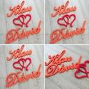 Esküvői dekoráció, monogram, szív, háttér -, asztal dekoráció hungarocell, polisztirol, xps, Esküvő, Dekoráció, Otthon, lakberendezés, Esküvői dekoráció, Esküvői dekoráció, nevek, szív, háttér  Az első betűk magassága 25cm. A teljes dekoráció szélessége ..., Meska