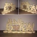 Esküvői dekoráció Mr és Mrs, és vezetéknév-hungarocell, nikecell, polisztirol- 6 betű, Dekoráció, Otthon, lakberendezés, Esküvő, Esküvői dekoráció, A asztal dekorációnak, vagy nagyobb méretben háttér dekorációnak is nagyon szép!  Díszítés festés eg..., Meska