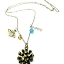 kis herceg nyaklánc, Ékszer, Karkötő, Ezüst színű kis herceg nyaklánc, a jól ismert motívumokkal.  csillag, bolygó, kis herceg medálokkal ..., Meska