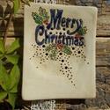 AKCIÓ!!! Karácsony, Fehérre égő agyagból készítettem ezt a szapp...
