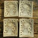 AKCIÓ!!! 4 db Angyalka szappantartó, Fehérre égő agyagból készítettem ezeket a sz...