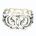 Reneszánsz gyűrű, Ékszer, Esküvő, Ruha, divat, cipő, Gyűrű, A legnagyobb szélessége: 9 mm. Alapanyaga: ezüst 925. A gyűrű belső átmérőjét vevőink igényeihez iga..., Meska