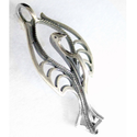Lélekmadár medál, Ékszer, Medál, A díszítmény mérete: 14x29 mm. Alapanyaga: ezüst 925. A lélekmadár medált természeti forma ihlette, ..., Meska