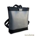 Ezüst hátizsák félkarikával, Táska, Hátizsák, Új anyagok felhasználásával elsőnek ez az ezüst textilbőrrel díszített hátizsák készült..., Meska