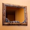 Tükör görbefa keretben, Bútor, Otthon, lakberendezés, Képkeret, tükör, Famegmunkálás, Tükör görbefa keretben. Tükör mérete: 50*40cm, keret anyaga kőris. A keret csiszolva, lakkozva. A t..., Meska