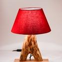 Görbefa asztali lámpa, Otthon, lakberendezés, Lámpa, Asztali lámpa, A lámpatest egy bükkfa ágából készült. Miután megszabadult a külső rétegétől, a fényesség érdekében ..., Meska