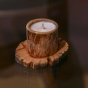 Kis fa gyertyatartó/ görbefa mécsestartó 3db-os szett, Dekoráció, Otthon, lakberendezés, Gyertya, mécses, gyertyatartó, Ünnepi dekoráció, Egyszerű görbefa gyertyatartó, alapja tölgyfa korong. A mécses egy kb 5cm magas bükk görbefában fogl..., Meska