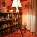 Görbefa állólámpa, Esküvő, Otthon, lakberendezés, Lámpa, Állólámpa, Famegmunkálás, A lámpatest egy fa ágából készült. Miután megszabadult a külső rétegétől, a fényesség érdekében két..., Meska