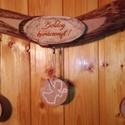 Görbefa karácsonyi dekoráció, Dekoráció, Ünnepi dekoráció, Karácsonyi, adventi apróságok, Karácsonyi dekoráció, Falra vagy ajtóra akasztható görbefából készült karácsonyi dekoráció,melyre az alkalomhoz illő graví..., Meska