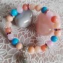 """""""Pillecukor"""" színes jáde ásványos karkötő, Ékszer, Karkötő, Vidám, cukorkákra emlékeztető színes jáde ásvány gyöngyöket használtam, színes rondellá..., Meska"""