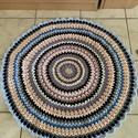 Mandala szőnyeg, Otthon & Lakás, Lakástextil, Szőnyeg, Horgolás, Egyedi, kézműves termék. Nem készült belőle több. Tapintása puha. Anyaga: pamut. 30 °C-os vízben mo..., Meska