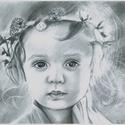 Rajz egy kislányról, Képzőművészet, Grafika, Rajz, Fotó, grafika, rajz, illusztráció, Megragadott a kis lány tündöklő tekintete, ezért grafit ceruza segítségével egy A/4-es méretű lapra..., Meska