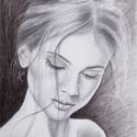 Női porté, Képzőművészet, Grafika, Rajz, Valahogy az általános iskolában megmaradt az emberekben az, hogy a rajzolás felesleges és nehé..., Meska