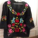 kalocsai bluz, Ruha, divat, cipő, Női ruha, Blúz, kalocsaihimzett bluz méretre késziztem, Meska