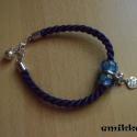 Kék romantika karkötő, Egyszerű csavart zsinór karkötő. Két Pandora ...