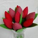 Tulipán csokorban II, Dekoráció, Ünnepi dekoráció, Húsvéti apróságok, Csokor, Pamut tulipánok csokorban. 1 csokorban 10 szál van.  Hossza 30 cm.  Előzetes egyeztetés után rendelh..., Meska