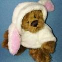 Ted nyúlnak öltözött, Játék, Plüssállat, rongyjáték, Hamisíthatatlanul tavaszodik, ezért kedvenc Tedünk megmutatja, hogy egy mackó is lehet nyúl. :D A mű..., Meska