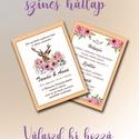 Színes hátlap / KIEGÉSZÍTŐ CSOMAG / Emma Creative Home, Esküvő, Esküvői dekoráció, Meghívó, ültetőkártya, köszönőajándék, Válaszd meghívódhoz, képeslapodhoz a legjobb színt! Stílusosabb, látványosabb és erősebb t..., Meska