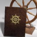 Könyv, napló, emlékkönyv, vendégkönyv valódi bőr borítóval, Férfiaknak, Horgászat, vadászat, Naptár, jegyzet, tok, Könyvkötés, Papírművészet, Ezt az egyedi könyvet mindazoknak ajánlom, akik különleges vendégkönyvet, emlékkönyvet keresnek. Na..., Meska