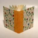 Könyv, napló, emlékkönyv, jegyzetelő. Kézzel festett virágmintás vászon borító, Otthon & lakás, Gyerek & játék, Naptár, képeslap, album, Jegyzetfüzet, napló, Napló, jegyzetelő, emlékkönyv üres lapokkal.  A 120 g-os elefántcsontszínű belső lapokat kézzel fűzt..., Meska