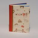 Napló lenvászon borítval, angolos mintákkal, Naptár, képeslap, album, Jegyzetfüzet, napló, Lenvászon borítós napló 14 x 20 cm-es méretben. A megadott ár a simalapos változatra vonatkozik, ren..., Meska