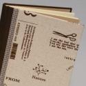 'Natúr'. Napló, lenvászon borító, Vonalas vagy kockás lapokkal rendelhető, Naptár, képeslap, album, Jegyzetfüzet, napló, Könyvkötés, Papírművészet, Lenvászon borítós napló 14 x 20 cm-es méretben. RENDELÉSRE készítem, igény szerinti belső lapokkal...., Meska