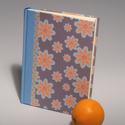 Napló, jegyzetelő üres lapokkal, kézzel fűzött félvásznas könyv, vászon gerinc, Naptár, képeslap, album, Jegyzetfüzet, napló, Papírművészet, Könyvkötés, A/5-ös méretű napló, jegyzetelő üres lapokkal, kézzel fűzött félvásznas könyv. Azonnal megvehető ké..., Meska