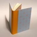 Napló, jegyzetelő üres lapokkal, kézzel fűzött félvásznas könyv, vászon gerinc, Otthon & lakás, Naptár, képeslap, album, Jegyzetfüzet, napló, A/5-ös méretű napló, jegyzetelő üres lapokkal, kézzel fűzött félvásznas könyv. Azonnal megvehető kés..., Meska