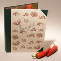 Zöldséges konyhai mappa, receptgyűjtő, iratgyűjtő konyhába, receptes dosszié A4-es papírokhoz, Konyhafelszerelés, Naptár, képeslap, album, Receptfüzet, Jegyzetfüzet, napló, Papírművészet, Könyvkötés, Zöldséges konyhai mappa, receptgyűjtő, iratgyűjtő konyhába, receptes dosszié 'Receptek' felirattal...., Meska