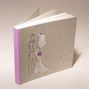 Esküvői fotóalbum, album esküvőre, esküvői emlék, nászajándék, kézzel rajzolt borító, egyedi névfelirat, Naptár, képeslap, album, Esküvő, Fotóalbum, Nászajándék, Esküvői fotóalbum, album esküvőre, esküvői emlék vagy nászajándék, egyedi nevekkel rendelhető,  telj..., Meska