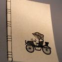A/4-es méretű füzet. Kézzel fűzött, kézzel rajzolt; natúr borító, Naptár, képeslap, album, Férfiaknak, Jegyzetfüzet, napló, Naptár, jegyzet, tok, Könyvkötés, Festett tárgyak, A4-es méretű füzet, kézzel rajzolt borítóval, kézzel fűzött (japán fűzéssel). Akár más méretben, má..., Meska