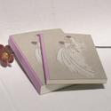 Esküvői szett; vendégkönyv és fotóalbum esküvőre, esküvői emlék, nászajándék, kézzel rajzolt borító, Naptár, képeslap, album, Esküvő, Nászajándék, Esküvői szett; vendégkönyv és fotóalbum esküvőre, esküvői emlék vagy nászajándék. Egyedi nevekkel re..., Meska