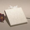 Kisméretű esküvői vendégkönyv, emlékkönyv esküvőre. Gyűrt selyem borító, szalaggal, Naptár, képeslap, album, Esküvő, Nászajándék, Hagyományos fűzésű esküvői vendégkönyv, kisméretű emlékkönyv. Minden lapra elfér egy-egy meghívott j..., Meska