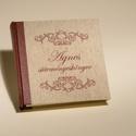 Múltidéző süteményeskönyv, egyedi névvel vagy választott címmel készül, Naptár, képeslap, album, Konyhafelszerelés, Jegyzetfüzet, napló, Receptfüzet, Könyvkötés, Papírművészet, Egyedi rendelésre, névre szólóan, választott címmel készülő, vintage stílusú süteményeskönyv.  Kívü..., Meska