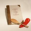 Múltidéző receptgyűjtő könyv, vintage, vászon borító, valódi bőr gerinc és sarkok, Naptár, képeslap, album, Konyhafelszerelés, Jegyzetfüzet, napló, Receptfüzet, Könyvkötés, Papírművészet, Ez a könyv RENDELHETŐ. Személyre szabottan, névre szólóan, más címmel, más színű bőrrel és más előz..., Meska