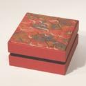 Díszdoboz, ajándékos doboz, tárolódoboz; papír és vászon kombinációja, a fedelén nyomtatott papír japános mintával, Otthon & lakás, Dekoráció, Lakberendezés, Tárolóeszköz, Díszdoboz, ajándékos doboz, tárolódoboz; papír és vászon kombinációja, a fedelén nyomtatott papír ja..., Meska