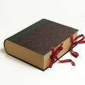 Könyv alakú nagyméretű doboz, tároló íróasztalra, vintage tárolódoboz hagyományos kivitelben, Otthon, lakberendezés, Férfiaknak, Tárolóeszköz, Doboz, Papírművészet, Könyvkötés, Könyv alakú nagyméretű doboz, tároló íróasztalra, vintage tárolódoboz hagyományos kivitelben, régie..., Meska