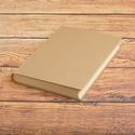Kézzel fűzött natúr, kemény borítós, díszíthető könyv. A5 napló, emlékkönyv, vendégkönyv, Otthon & lakás, Naptár, képeslap, album, Jegyzetfüzet, napló, Kézzel fűzött natúr, kemény borítós, díszíthető könyv. A5 napló, emlékkönyv, vendégkönyv. A borító k..., Meska