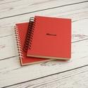 Piros spirálfüzetek, szettben olcsóbb: 2 db A5-ös spirálfüzet. Személyre szabható, névvel, keresztnévvel, monogrammal, Otthon & lakás, Gyerek & játék, Naptár, képeslap, album, Jegyzetfüzet, napló, Piros spirálfüzetek: 2 db A5-ös spirálfüzet fekete és fehér spirállal. Személyre szabható: névvel, k..., Meska