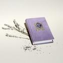 Kordbársony napló, halványlila emlékkönyv, vintage titkosnapló. Régi, eredeti, szecessziós fém képkerettel, üres lapok, Otthon & lakás, Naptár, képeslap, album, Jegyzetfüzet, napló, Kordbársony napló, halványlila emlékkönyv, vintage titkosnapló. Régi, eredeti, szecessziós fém képke..., Meska