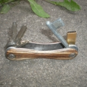 Kulcsos Bicska - trópusi fákból, Mindenmás, Férfiaknak, Kulcstartó, Ez egy egyedi kézzel készült kulcstartó egzotikus, trópusi fafajtákból, melyen mindig ugyanott vanna..., Meska