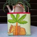 Lány vagy fiú tatyó  ( Elefánt és krokodil ), Baba-mama-gyerek, Táska, Szatyor,   Mint gyakorló nagymama készítettem ezt a könnyen használható fiúcska táskát.Jó tartása van, könnye..., Meska