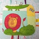 Baba rongyi, címke kendő. ( kézségfejlesztő babáknak, állatokkal ) ), Baba-mama-gyerek, Játék, Készségfejlesztő játék, Felkérést kaptam egy ilyen kendő megvarrására. Amiket figyelembe vettem, úgy gondolom, hasznos a bab..., Meska