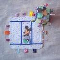 Babarongyi + kocka  Miki egeres, Baba-mama-gyerek, Játék, Készségfejlesztő játék, Miki egeres pamutvászon és törölköző frottírból készült rongyi . A kocka frízzel van tömve. Pasztell..., Meska