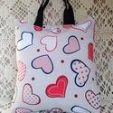 Bevásárló szatyor,( szív, Loneta ) Nagy méret !, Loneta vászonból készült az egész szatyor, sz...