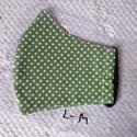 Szájmaszk, női, kamasz, bakfis méret L   Zöld tüpöttyös, Egyedi, mintás, mosható egészségügyi  Női, k...