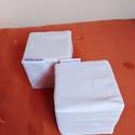 Szivacs kockák, 10 x 10 cm, Kedves megrendelő kérdésére varrtam, ezt a feh...