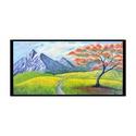 Tűzfa, Képzőművészet, Festmény, Napi festmény, kép, Akril, A vakkeretes vászonkép mérete 30x60 cm-es.A vastagsága 1,8 cm.Akril festéket használtam.Lakkoz..., Meska